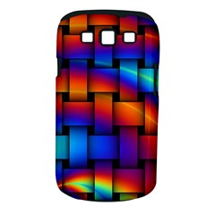 Rainbow Weaving Pattern Samsung Galaxy S Iii Classic Hardshell Case (pc+silicone) by Amaryn4rt