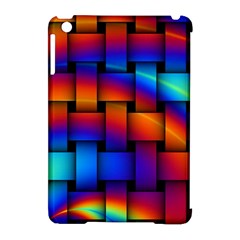 Rainbow Weaving Pattern Apple Ipad Mini Hardshell Case (compatible With Smart Cover) by Amaryn4rt