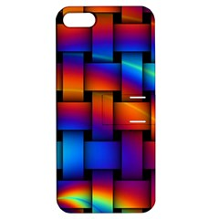 Rainbow Weaving Pattern Apple Iphone 5 Hardshell Case With Stand by Amaryn4rt