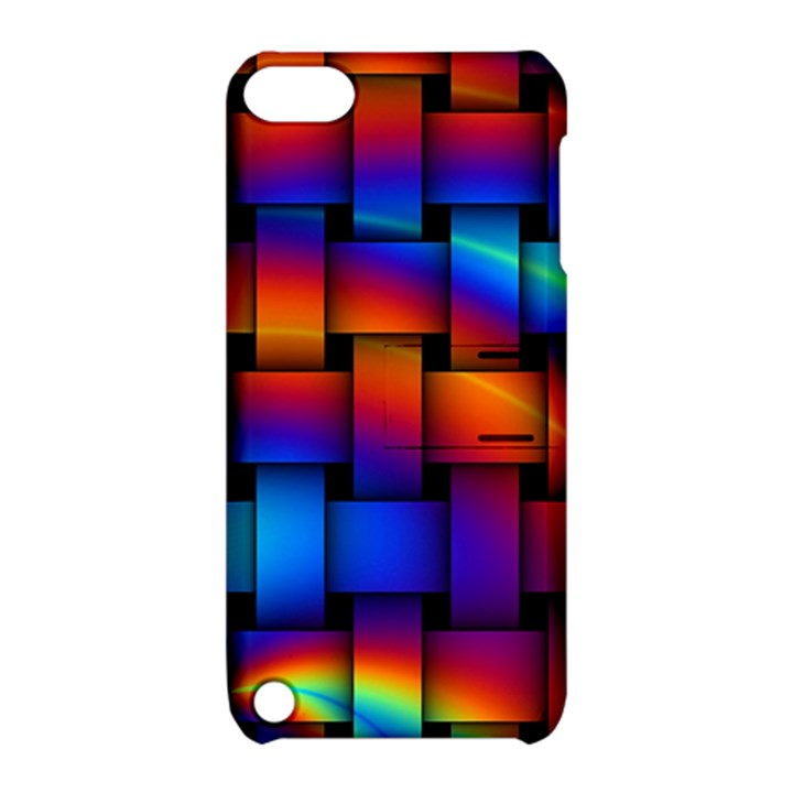 Rainbow Weaving Pattern Apple iPod Touch 5 Hardshell Case with Stand