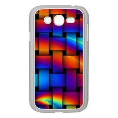 Rainbow Weaving Pattern Samsung Galaxy Grand Duos I9082 Case (white) by Amaryn4rt