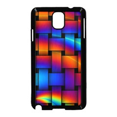 Rainbow Weaving Pattern Samsung Galaxy Note 3 Neo Hardshell Case (black) by Amaryn4rt