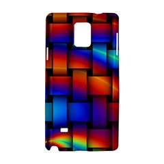 Rainbow Weaving Pattern Samsung Galaxy Note 4 Hardshell Case by Amaryn4rt