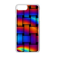 Rainbow Weaving Pattern Apple Iphone 7 Plus White Seamless Case by Amaryn4rt