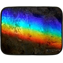 Rainbow Color Prism Colors Fleece Blanket (mini) by Amaryn4rt