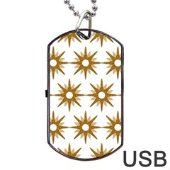 Seamless Repeating Tiling Tileable Dog Tag Usb Flash (two Sides) by Amaryn4rt