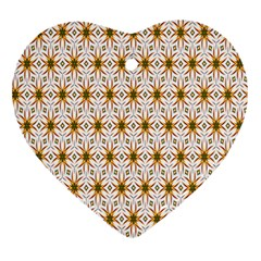 Seamless Wallpaper Background Heart Ornament (two Sides)