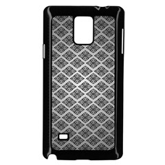 Silver The Background Samsung Galaxy Note 4 Case (black) by Amaryn4rt