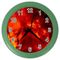 Star Clusters Rosette Nebula Star Color Wall Clocks by Amaryn4rt