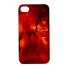 Star Clusters Rosette Nebula Star Apple Iphone 4/4s Hardshell Case With Stand by Amaryn4rt