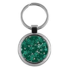 Star Seamless Tile Background Abstract Key Chains (round)  by Amaryn4rt