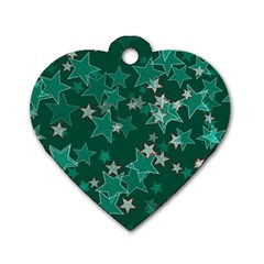 Star Seamless Tile Background Abstract Dog Tag Heart (two Sides) by Amaryn4rt
