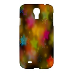 Star Background Texture Pattern Samsung Galaxy S4 I9500/i9505 Hardshell Case by Amaryn4rt
