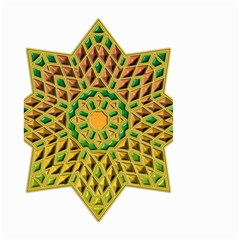 Star Pattern Tile Background Image Small Garden Flag (two Sides)
