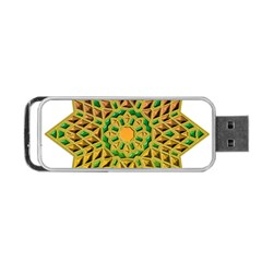 Star Pattern Tile Background Image Portable Usb Flash (two Sides) by Amaryn4rt