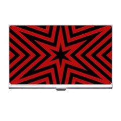 Star Red Kaleidoscope Pattern Business Card Holders by Amaryn4rt