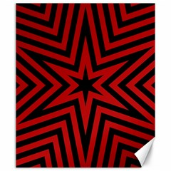 Star Red Kaleidoscope Pattern Canvas 20  X 24   by Amaryn4rt