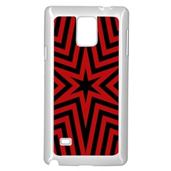 Star Red Kaleidoscope Pattern Samsung Galaxy Note 4 Case (white)
