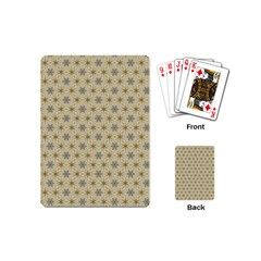 Star Basket Pattern Basket Pattern Playing Cards (mini)  by Amaryn4rt