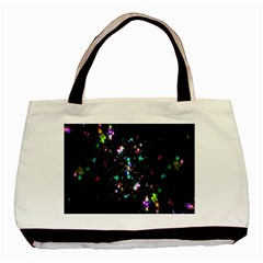 Star Structure Many Repetition Basic Tote Bag (two Sides)