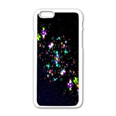 Star Structure Many Repetition Apple Iphone 6/6s White Enamel Case by Amaryn4rt