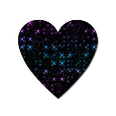 Stars Pattern Seamless Design Heart Magnet by Amaryn4rt