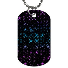 Stars Pattern Seamless Design Dog Tag (one Side) by Amaryn4rt