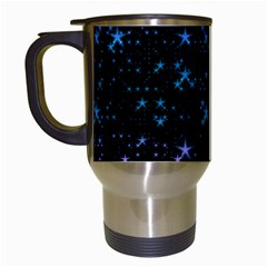 Stars Pattern Seamless Design Travel Mugs (white) by Amaryn4rt