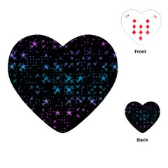 Stars Pattern Seamless Design Playing Cards (heart)  by Amaryn4rt