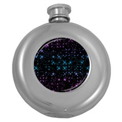 Stars Pattern Seamless Design Round Hip Flask (5 Oz) by Amaryn4rt