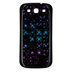 Stars Pattern Seamless Design Samsung Galaxy S3 Back Case (black) by Amaryn4rt