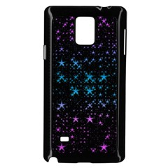 Stars Pattern Seamless Design Samsung Galaxy Note 4 Case (black)