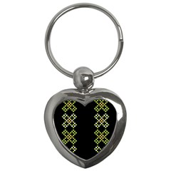 Vintage Pattern Background  Vector Seamless Key Chains (heart)