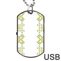 Vintage Pattern Background  Vector Seamless Dog Tag Usb Flash (two Sides) by Amaryn4rt