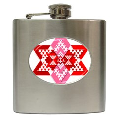 Valentine Heart Love Pattern Hip Flask (6 Oz)