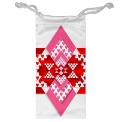 Valentine Heart Love Pattern Jewelry Bag by Amaryn4rt
