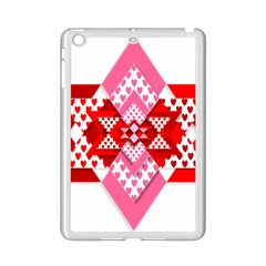Valentine Heart Love Pattern Ipad Mini 2 Enamel Coated Cases by Amaryn4rt