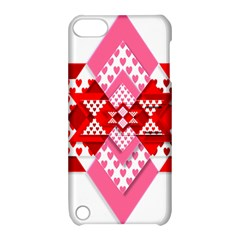 Valentine Heart Love Pattern Apple Ipod Touch 5 Hardshell Case With Stand by Amaryn4rt