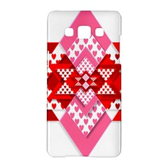 Valentine Heart Love Pattern Samsung Galaxy A5 Hardshell Case  by Amaryn4rt