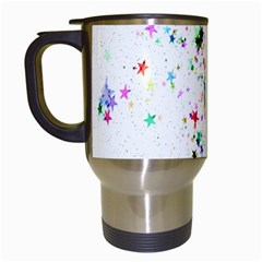 Star Structure Many Repetition Travel Mugs (white) by Amaryn4rt