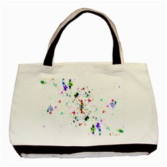 Star Structure Many Repetition Basic Tote Bag (two Sides) by Amaryn4rt