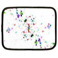 Star Structure Many Repetition Netbook Case (large) by Amaryn4rt