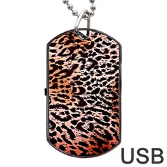 Tiger Motif Animal Dog Tag Usb Flash (two Sides) by Amaryn4rt