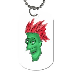 Crazy Man Drawing  Dog Tag (one Side)