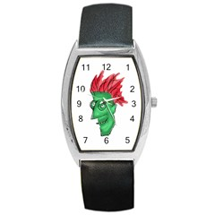 Crazy Man Drawing  Barrel Style Metal Watch by dflcprintsclothing