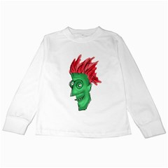 Crazy Man Drawing  Kids Long Sleeve T Shirts by dflcprintsclothing
