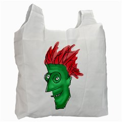 Crazy Man Drawing  Recycle Bag (two Side)