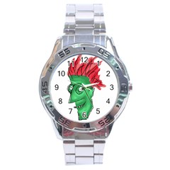 Crazy Man Drawing  Stainless Steel Analogue Watch by dflcprintsclothing