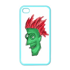 Crazy Man Drawing  Apple Iphone 4 Case (color) by dflcprintsclothing