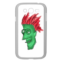 Crazy Man Drawing  Samsung Galaxy Grand Duos I9082 Case (white)